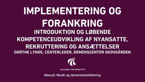 Thumbnail for entry Manual sang og musik: Implementering og forankring video 3