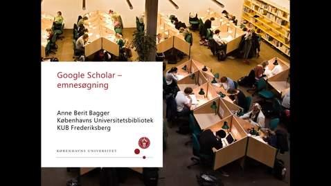 Thumbnail for entry google scholar søgning