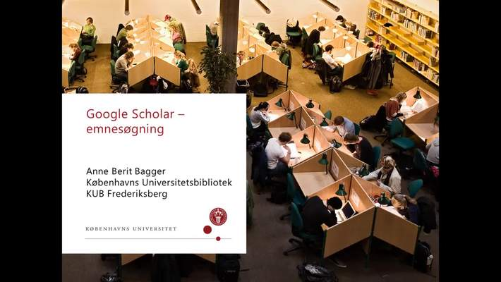 google scholar søgning