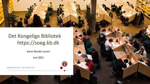 Thumbnail for entry Biblioteksystemet soeg.kb.dk juni 2021.mp4