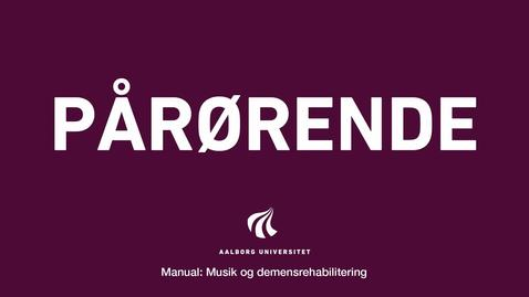 Thumbnail for entry Manual sang og musik: Pårørende Intro