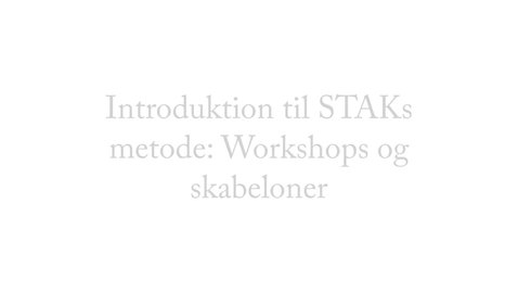 Thumbnail for entry Workshop og metode