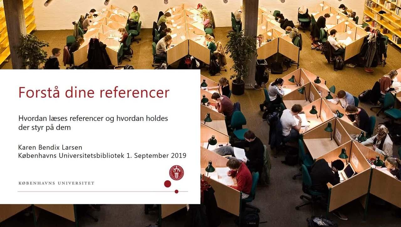 Referencer og referencehåndtering
