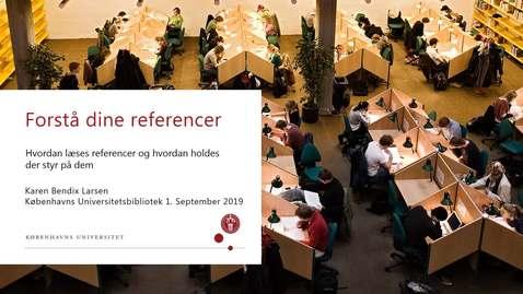 Thumbnail for entry Referencer og referencehåndtering