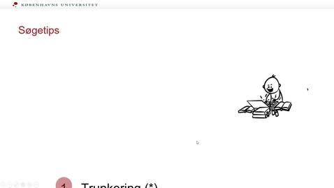 Thumbnail for entry tips til søgning