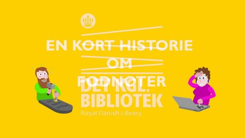 Thumbnail for entry Kort historie om referencer og noter, med danske undertekster