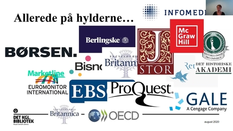 Thumbnail for entry Det Kgl. Biblioteks licensservice for ungdomsuddannelser  - Nyheder i licensporteføljen 2021