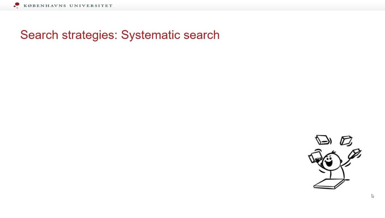 The Search process systematic search part 4