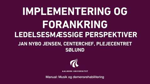 Thumbnail for entry Manual sang og musik: Implementering og forankring video 1
