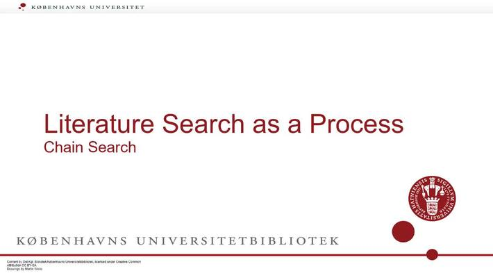 The Search process chain search part 3