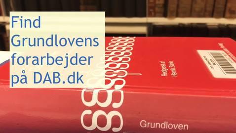 Thumbnail for entry Forarbejder til Grundloven.mp4