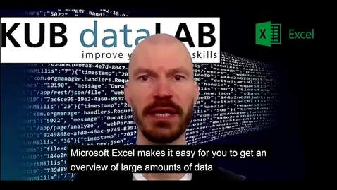Thumbnail for entry KUB Datalab - om Excel