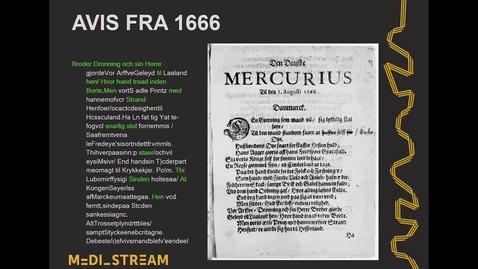 Thumbnail for entry Mediestream  - Hvordan er aviserne digitaliseret
