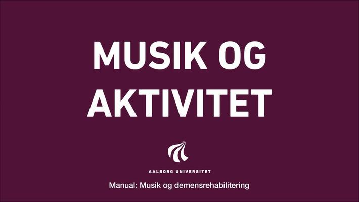 Manual sang og musik: Musik og aktivitet intro