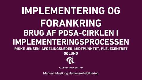 Thumbnail for entry Manual sang og musik: Implementering og forankring video 5