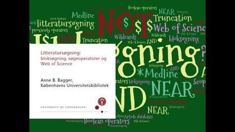 Thumbnail for entry Intro til bloksøgning og søgning i web of science