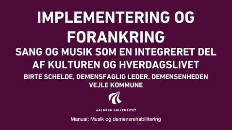 Thumbnail for entry Manual sang og musik: Implementering og forankring video 2