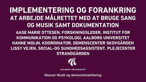 Thumbnail for entry Manual sang og musik: Implementering og forankring video 4